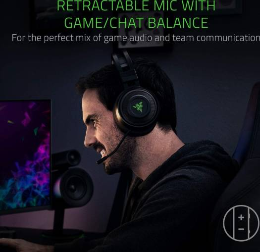 Razer Nari: Thx Spatial Audio - Cooling Gel-Infused Cushions - 2.4Ghz Wireless Audio - Mic With Game/Chat Balance - Gaming Headset Works For PC, PS4, Switch, And Mobile Devices | RZ04-02680100-R3M1