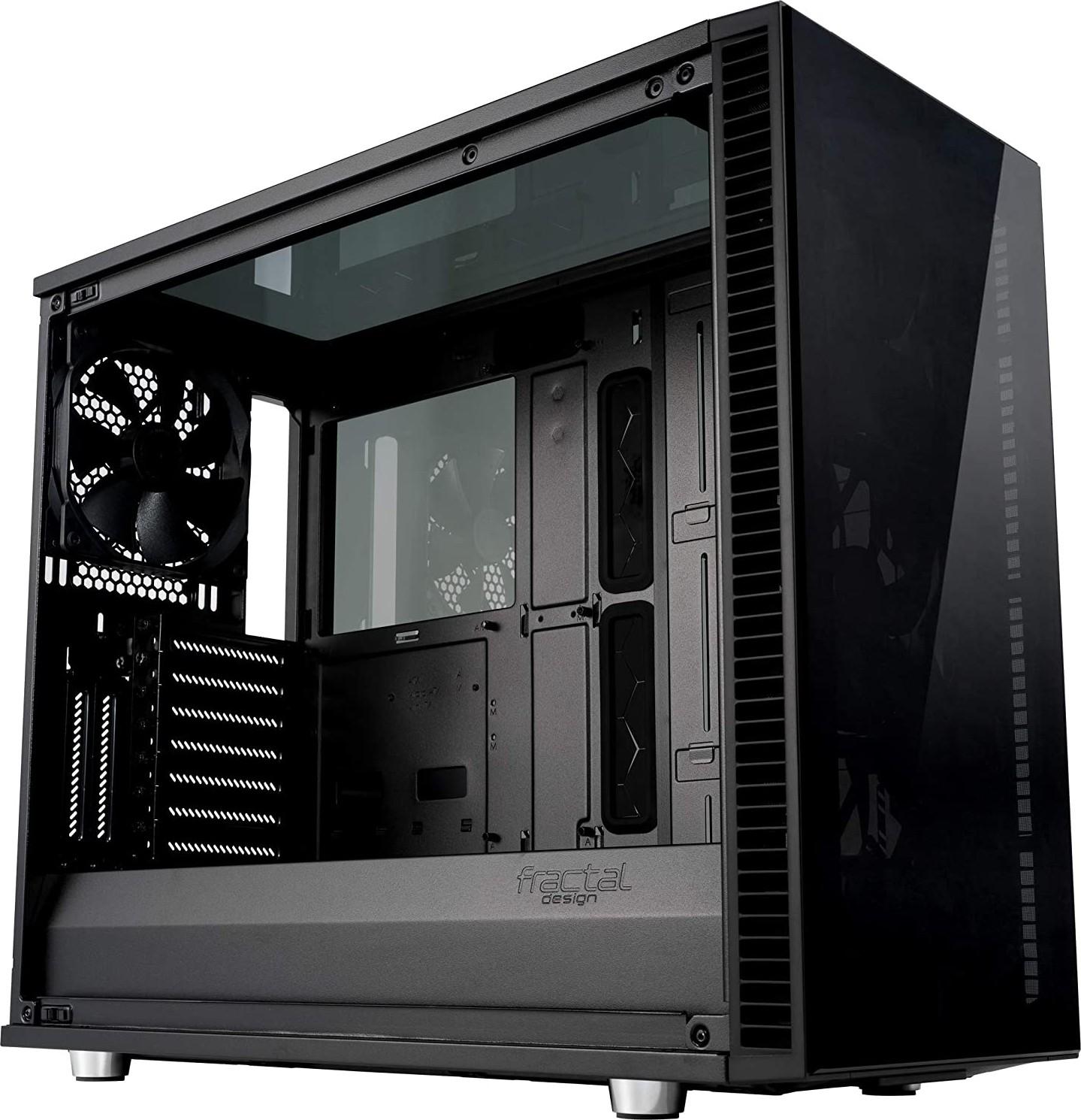 fractal design define s2 vision blackout tempard glass computer case fd ca def s2v bko tgd