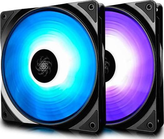 Deepcool Rf140 2in1 2x140mm Rgb Pwm Fans With Fan Hub And