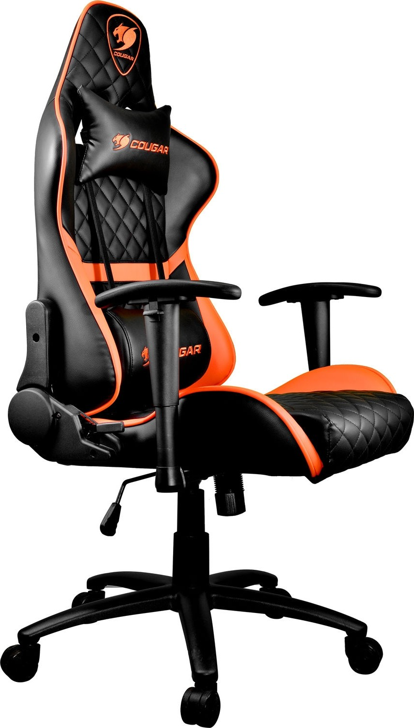 Surprising Cougar Armor One Gaming Chair 180O Reclining And Height Adjustment Black And Orange Cgr Armor One Blk Org Machost Co Dining Chair Design Ideas Machostcouk