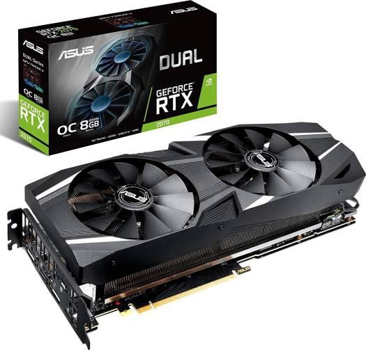 ASUS GeForce DUAL-RTX2070-O8G Overclocked O8G GDDR6, PCI Express 3.0, 256-bit,  HDM,I DP 1.4, USB Type-C, Graphic Card | 90YV0C82-M0NA00