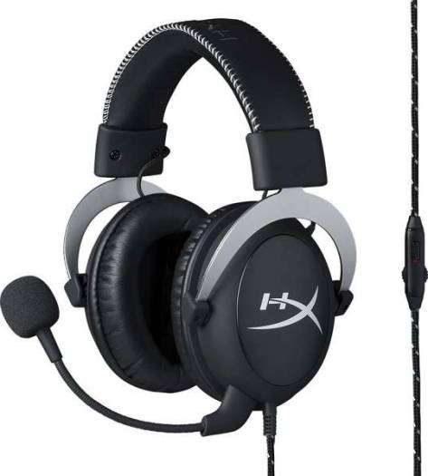 HyperX Cloud Pro Gaming Headset (In-Line Audio Control) – Silver | HX-HSCL-SR/NA