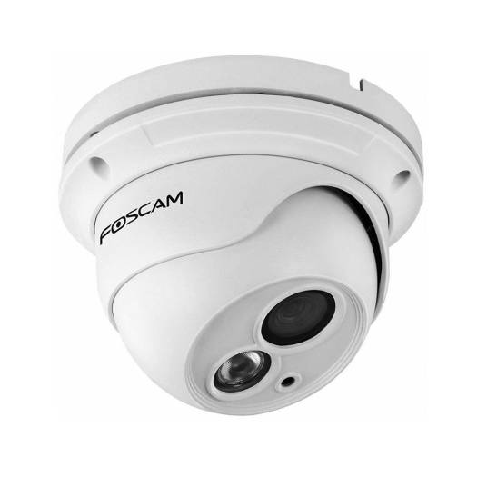 Foscam FI9853EP Outdoor Weatherproof P2P IP Security Camera with 65ft Night Vision, Motion Detection Alert, Power over Ethernet, Free Cloud Service Included | FC-FI9853EP