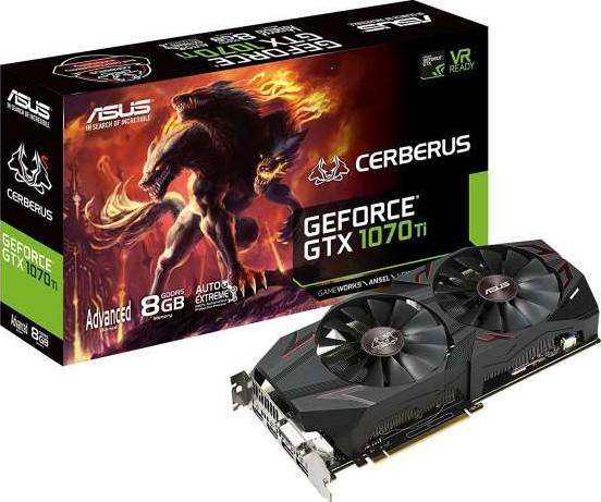 ASUS CERBERUS-GTX1070Ti-A8G Cerberus GeForce GTX 1070 Ti Advanced Edit