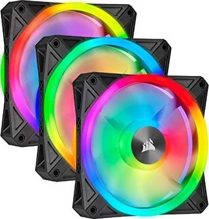 Corsair QL Series, Ql120 RGB, 3x120mm RGB LED Fan + Lighting Node CORE, Triple Pack | CO-9050098-WW