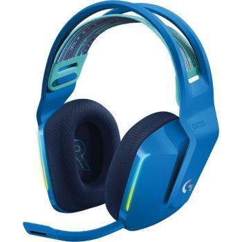 Logitech G733 LightSpeed Wireless RGB Gaming Headset, Blue | 981-000943