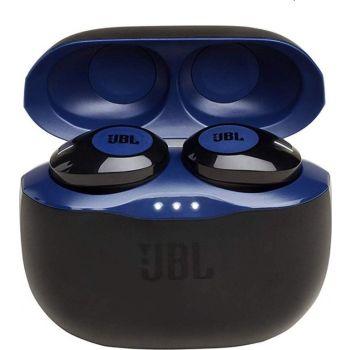 JBL Tune 120 TWS Wireless Bluetooth In-Ear Earphones With Charging Case - Blue/Black
