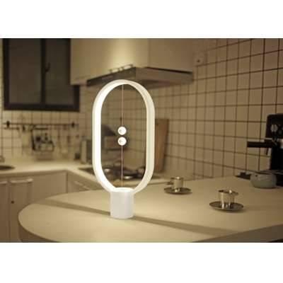 Allocacoc DN0040WT Heng Balance Lamp Ellipse Plastic USB - White | DN0040WT/HBLEUB