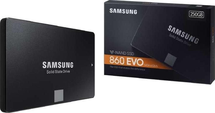 Samsung 860 EVO 250GB 2.5 Inch SATA III Internal SSD MZ-76E250B//AM