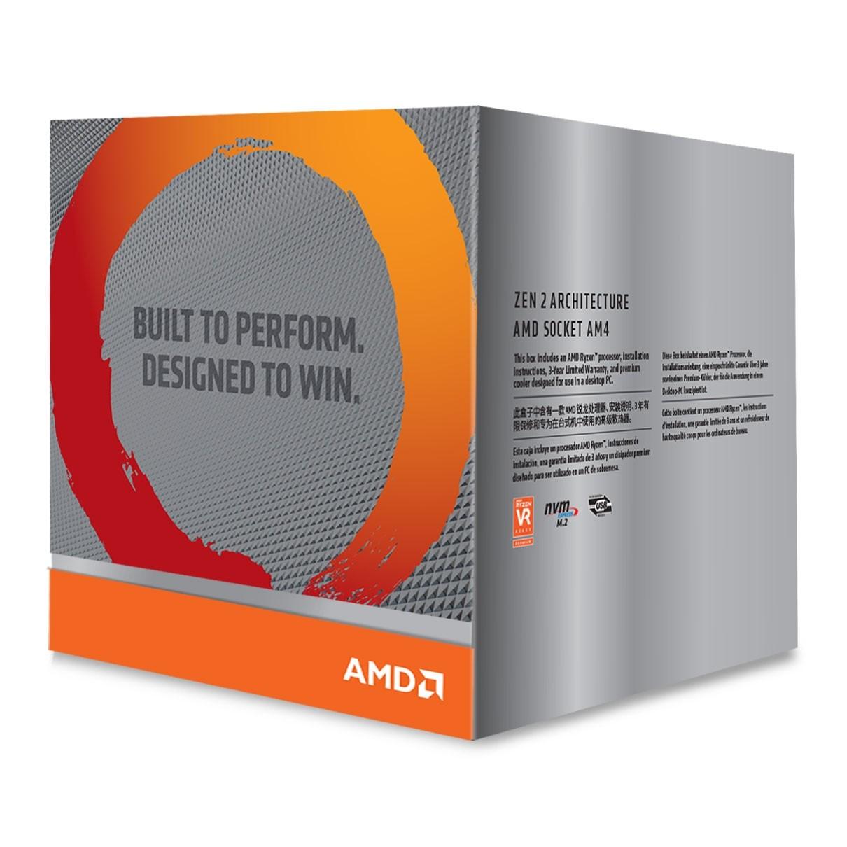 AMD Ryzen 9 3900X Gen3, AM4, Zen 2, 12 Core, 24 Thread, 3 8GHz, 4 6GHz  Turbo, 64MB L3, PCIe 4 0, 10