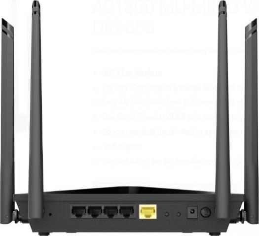 D-Link AC1300 MU-MIMO Wi-Fi Gigabit Router, Dynamic IP, USB 3.0 ( no warranty ) | DIR-853