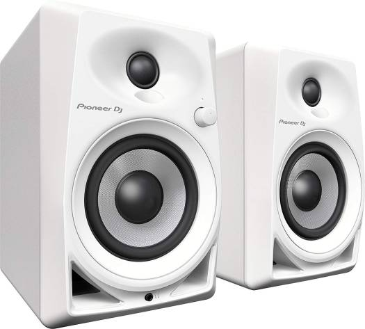 Pioneer DM-40-W DJ PAIR Desktop Monitors Bring Excellent Audio Quality - White | DM-40-W