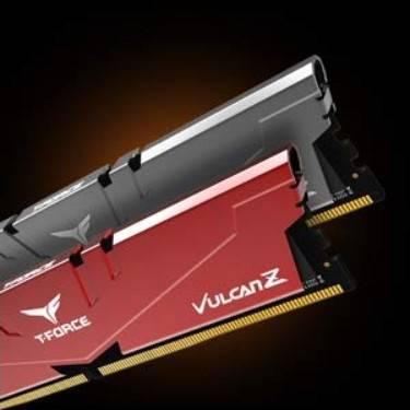 TeamGroup T-Force Vulcan Z DDR4 16GB Kit (2 x 8GB) 3000MHz (PC4 24000), CL16 Desktop Memory Module Ram, Red   TLZRD416G3000HC16CDC01