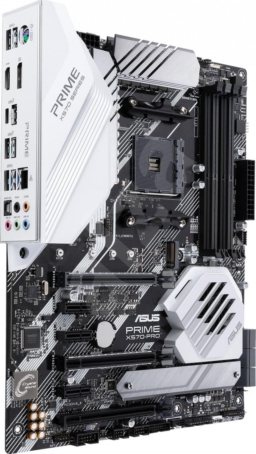 ASUS PRIME X570 PRO Motherboard, AMD X570 Chipset , DDR4, 3x PCIe x16, SATA  III RAID, USB 3 2, GLAN,